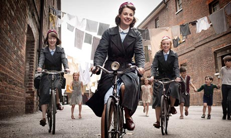 Call the Midwife … 'We don't go out on bikes.'